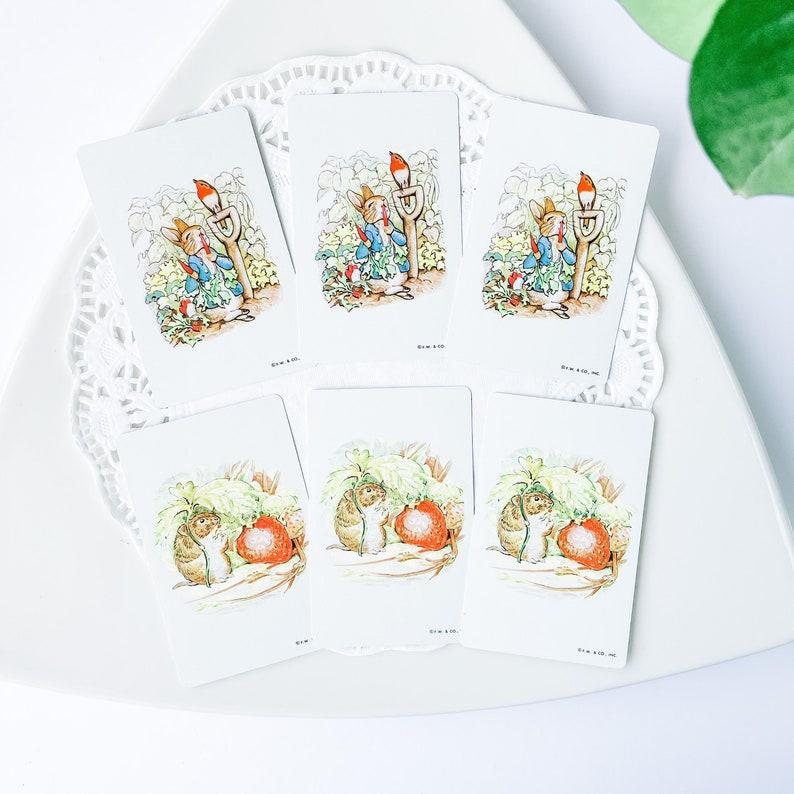 Vintage Beatrix Potter Peter Rabbit F.W Junk Journal Supply /& Co Inc Playing Cards Vintage Game Ephemera Vintage Paper