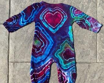 Tie Dye Baby Romper   Boho Baby Clothes   Hippie Baby Clothing   Tie Dye Baby Clothes   Hand Dyed Tie Dye