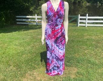 Women's Tie Dye Dress   Womens Hippie Dress   Boho Womens Clothes   Tie Dye Clothes   Hand Dyed Tie Dye   Sleeveless Maxi Dress