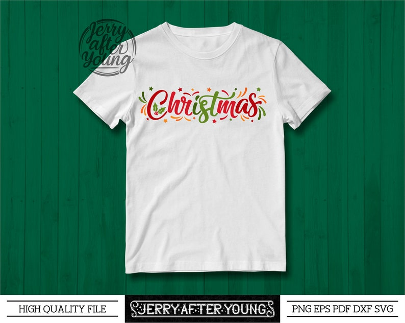 Christmas SVG Sublimation Cut File for T Shirt or Wall Art Personal Use or Small Bussines Use