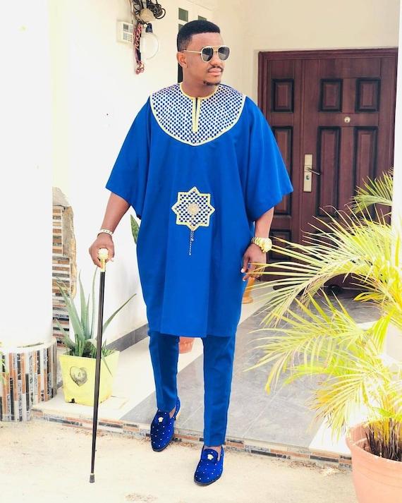 AGBADA for men, Agbada style men, Agbada, African wedding suit, African  men's clothing, men's traditional wear, Dashiki, Groomsmen suit
