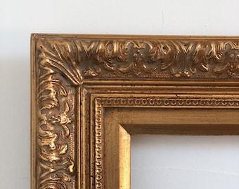 Isabel 5x7 inch gold leaf frame