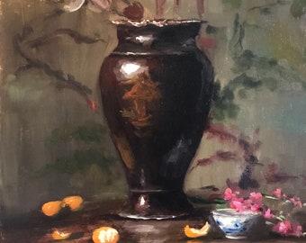 Mandarins Gallery Painting original Oil Painting