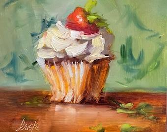 Cupcake Study Original Oil Painting