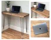 BOKOR Scandinavian Desk with Ivory Tipped Hairpin Legs