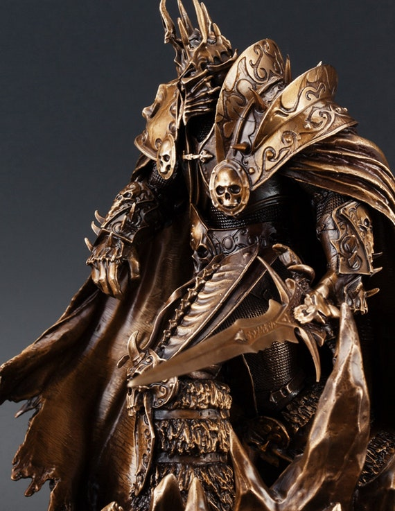 Lich King Arthas Menethil 7 5 Inches Bronze Casting Statue Handmade Wow Art Objects Home Decor World Of Warcraft