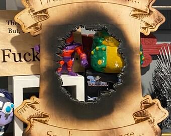 Fireballs are about sending a message! D&D wizard inspired Fire Blast Sign Gameroom Decor Game room geek fun Dungeons mtg dnd fantasy