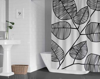 Modern Minimal Black And White Bathroom By Peachonawindowsill2