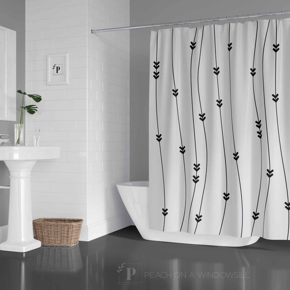Skull Head With Feathers And Arrow Bathroom Fabric Shower Curtain 71INCHES