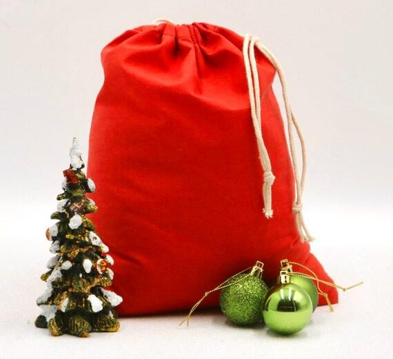 Premium Quality. Cotton Red Double Drawstring Muslin Bag Cotton Muslin Bag