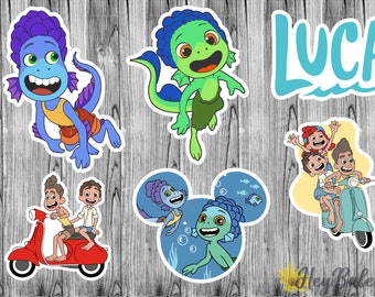 Disney's Luca Inspired Character Stickers / Planner, Scrapbook, Journal, Laptop, Phone, Skateboard, Tablet, Matte Stickers