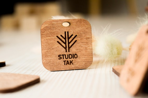 WOODEN TAGS Wooden knitting labels custom logo branding labels Unfinished wooden tags\uff0cplain wood Shamrock Embellishments for Craft