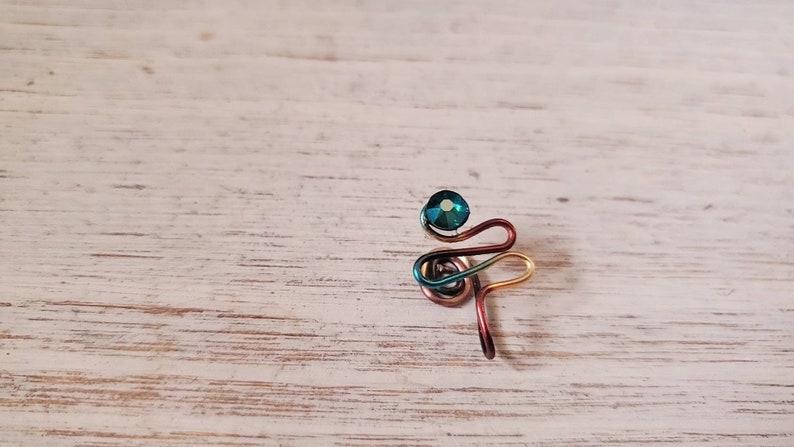 Multicolor jeweled nosecuffs