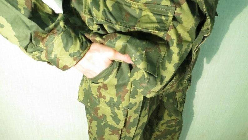Russian Army Summer Jacket/&pants BDU Afghanka VSR-93 Flora Vertikalca Butan 1990-s dated OTK stamp manufacturer Very bright camo pattern
