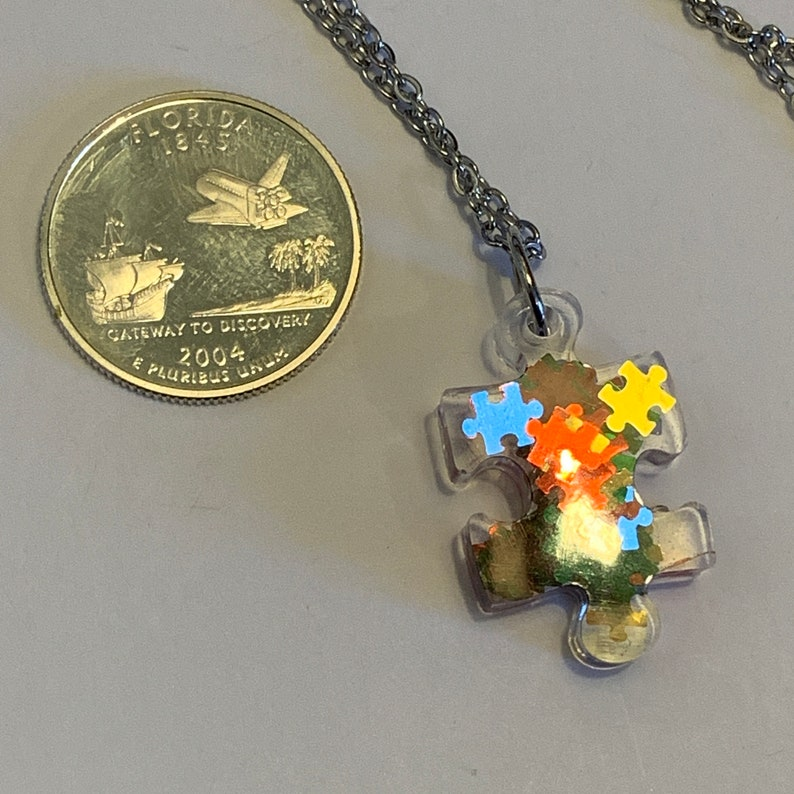 Resin Puzzle Necklace 20
