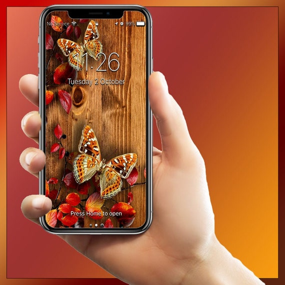 Autumn Fall Butterflies Iphone Android Wallpaper Background Theme Iphone 6 6s 7 7s 8 8s X Xs Max Xr Samsung Galaxy Note 9 Wallpapers