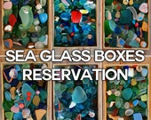 MERMAID BOXES RESERVATIONS. Boxes containing genuine Spanish sea glass and beach treasures.