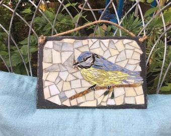 Mosaic Garden Bird on Slate