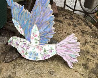 Art Deco Hand painted Dove