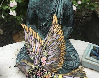 Mosaic Black Floral Chintz China Dove
