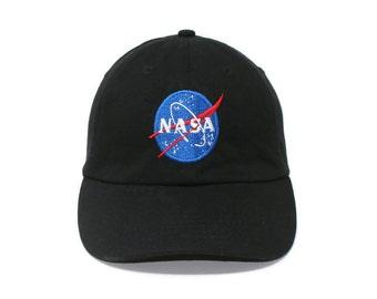 NASA Embroidered Baseball Cap Astronaut Geek Nerd Emblem Logo Fan Unisex Hat