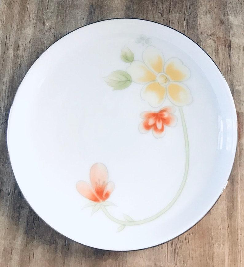 Floral Trinket Dish Vintage Trinket Dish Vintage Floral Plate - Vintage Annabelle Fine China Small Round Floral Plate Made In Japan