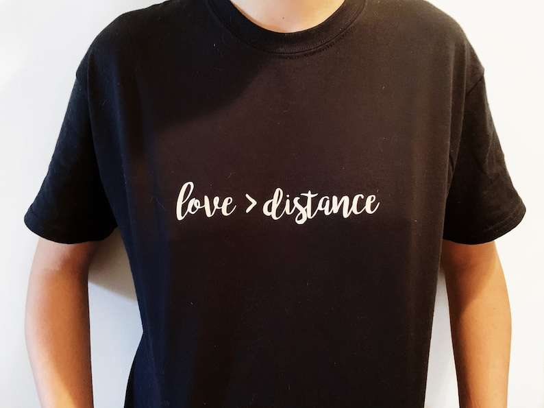 Long Distance Relationship Shirt Love is Greater Than image 0