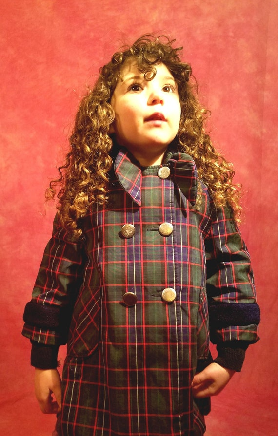 Vintage 60s Child's Green, Blue, Red White and Bla