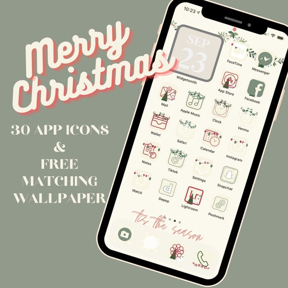 Christmas Aesthetic Ios 14 App Icon Covers Free Matching Etsy Download the perfect aesthetic pictures. christmas aesthetic ios 14 app icon covers free matching wallpaper