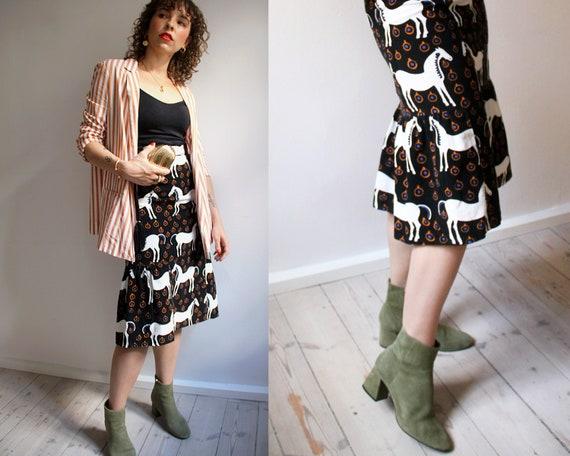 Vintage Marimekko Skirt. Vintage Marimekko Horse P