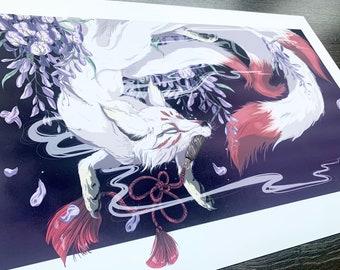 JAPANESE KITSUNE art print!