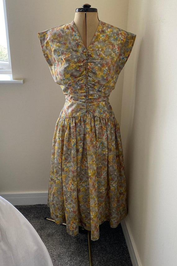 1940s/50s sleeveless dress