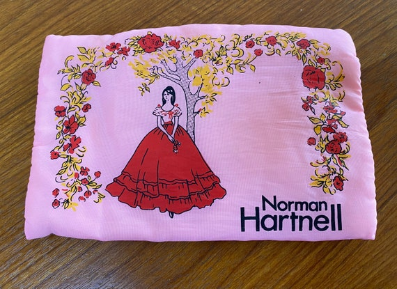 Vintage 1970s Norman Hartnell Cosmetic Bag
