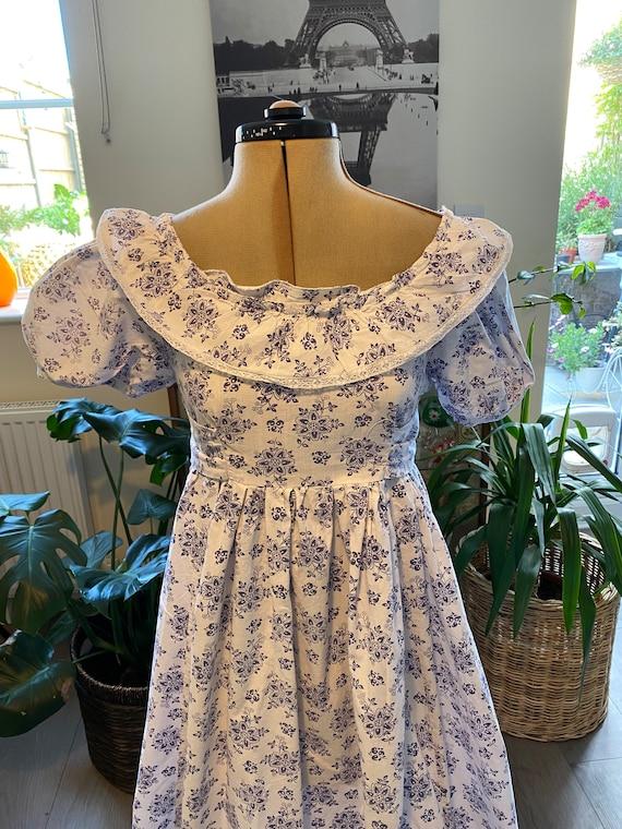 Vintage 1970s Laura Ashley Prairie Dress