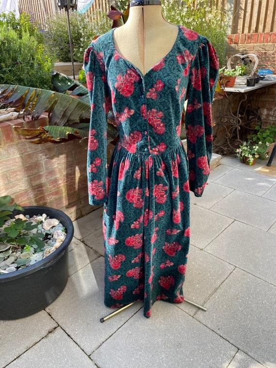 Vintage 1980s Velvet Laura Ashley Dress