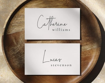 Modern Elegant Table Place Card Template PTC04 Editable Wedding Place Cards