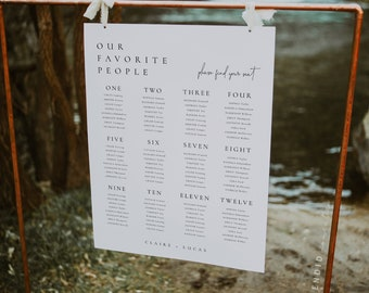 Welcome + Seating Charts