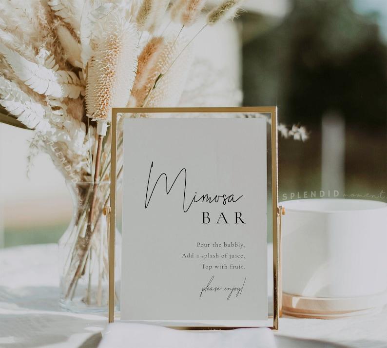 Mimosa Bar Sign Template Bridal Shower Sign Wedding Shower image 0
