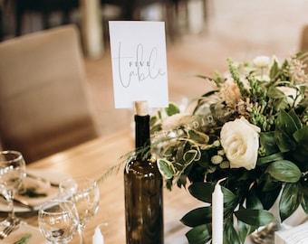 Minimal Wedding Table Numbers Template, Modern Table Numbers, Printable Wedding Table Numbers Set, Simple Elegant Table Numbers - Isla