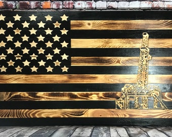 Unfinished Wooden Craft Shape Wall Art Unpainted Cutout Oil Rig Wood Craft Cutout Oil Rig Door Hanger Oil Derrick Paintable Oil Rig