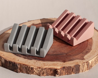 Concrete Soap Dish   Draining Soap Dish & Bar Soap Holder   Soap Display