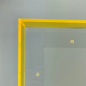 9x20 Clear Acrylic Double Panel Float Frame by Art of Will Pigg Unique Original Classy for Artwork and Pictures Custom Frame Supply