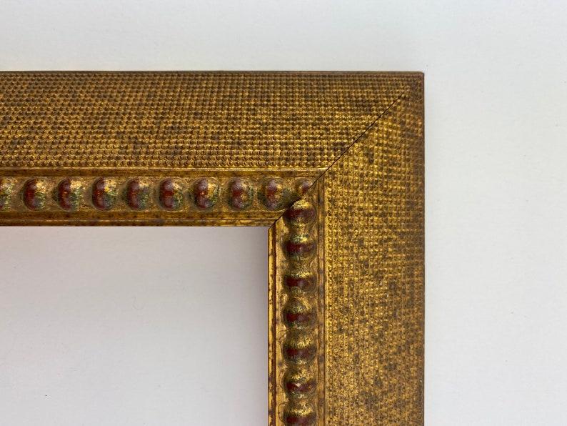 Dark Gold wRed Beads Rooftop Deep Frame-9 x 12