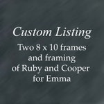 Two 8 x 10 frames and framing for Emma.