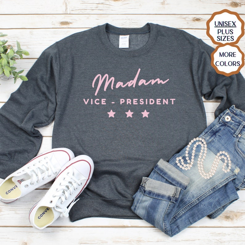 MVP Kamala Harris Shirt Feminist Sweatshirt Funny gift for her Madam Vice President Sweatshirt Madam Vice President Kamala Harris 2020