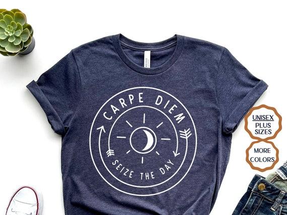 XXXL Carpe Diem Tshirt,Tee Funny T-Shirt Latin Seize the Day  Adults Kids SM