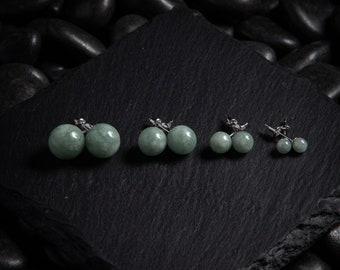 Dark Green Jadeite Earrings Jade Drop Earrings Guatemalan Jade Bar Earrings