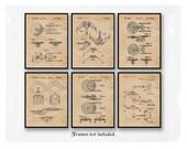 Vintage Star Trek Patent Poster Prints, 6 Unframed Photos, Wall Art Decor Gifts for Home Office Man Cave Garage Student Trekkie Sci Fi Fan