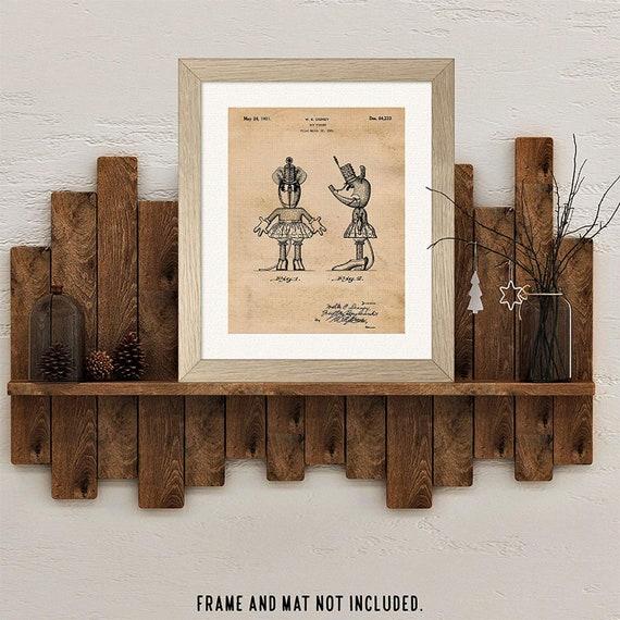 Great Bathroom Artwork for Kids Bathroom Wall Decor Set of Four Bathroom Themed Patents 8x10 Prints