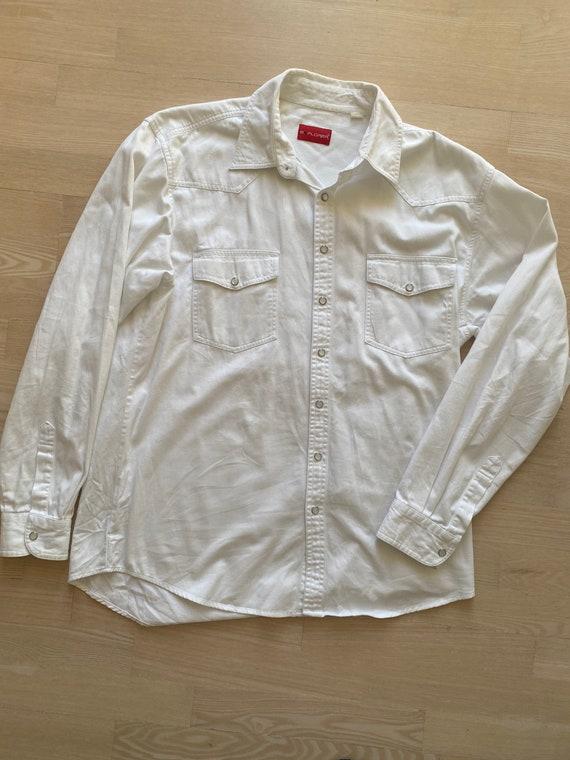 Western denim cowboy White shirt